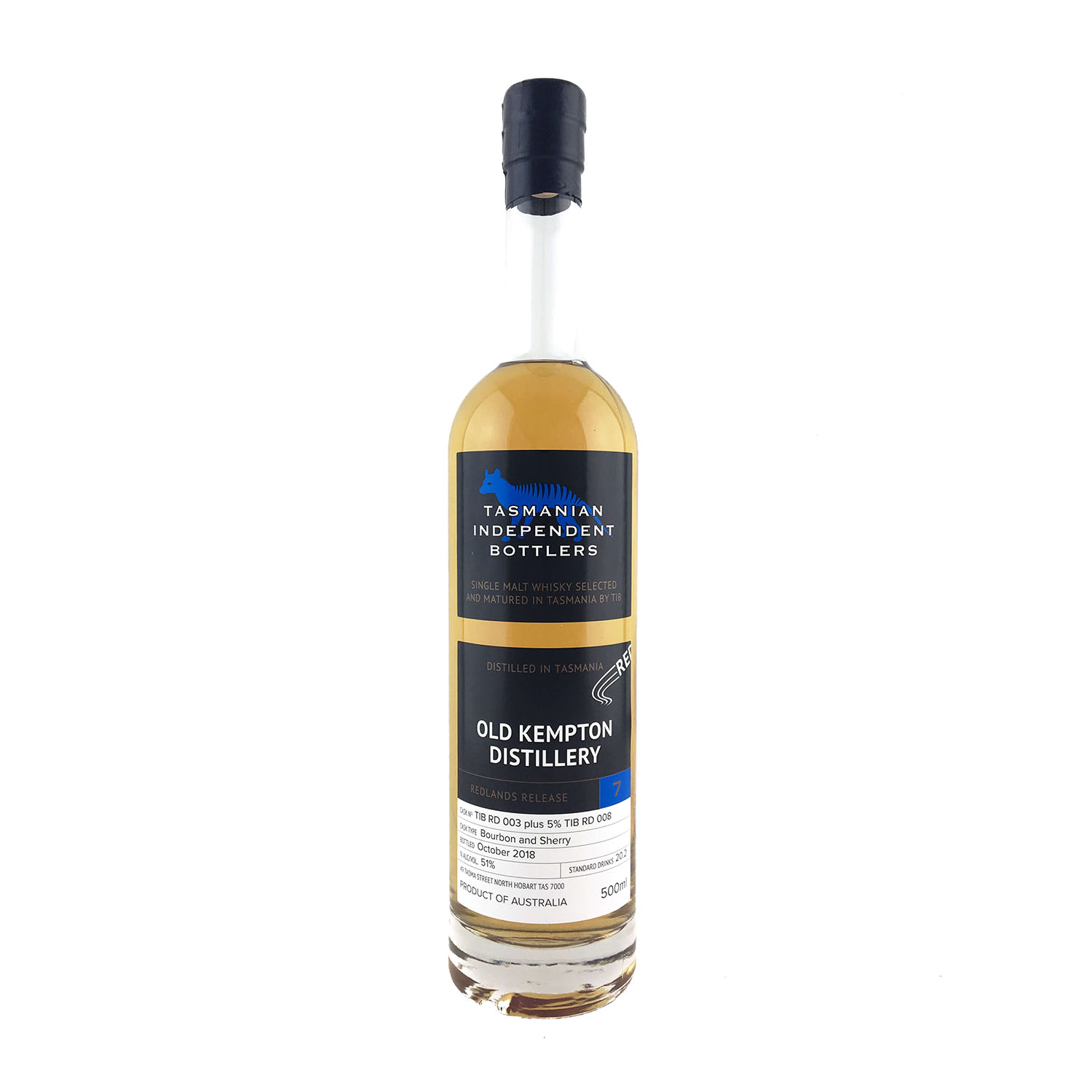 Tasmanian Independent Bottlers Old Kemption Distillery Release 7 (500ml) - Moreish Wines