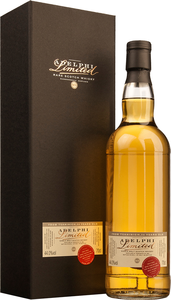 Adelphi 1983 Teaninich Single Cask #6728 Bourbon Cask 34 Year Old Single Malt Scotch Whisky