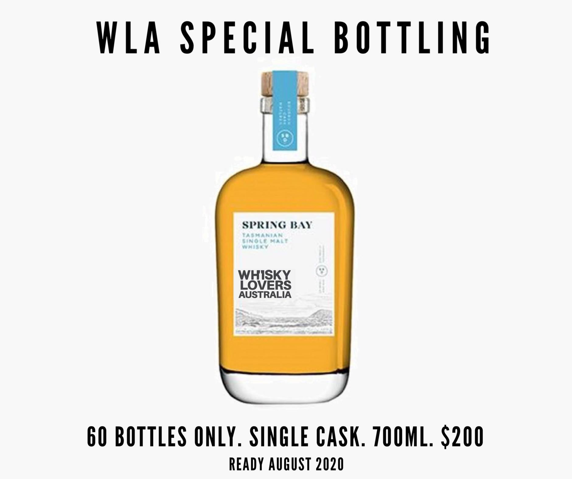Spring Bay Single Cask #117 Bourbon Cask For Whisky Lovers Australia PRE-SALE