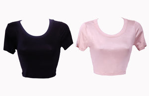 Soft Flex Cropped Short Sleeve Top