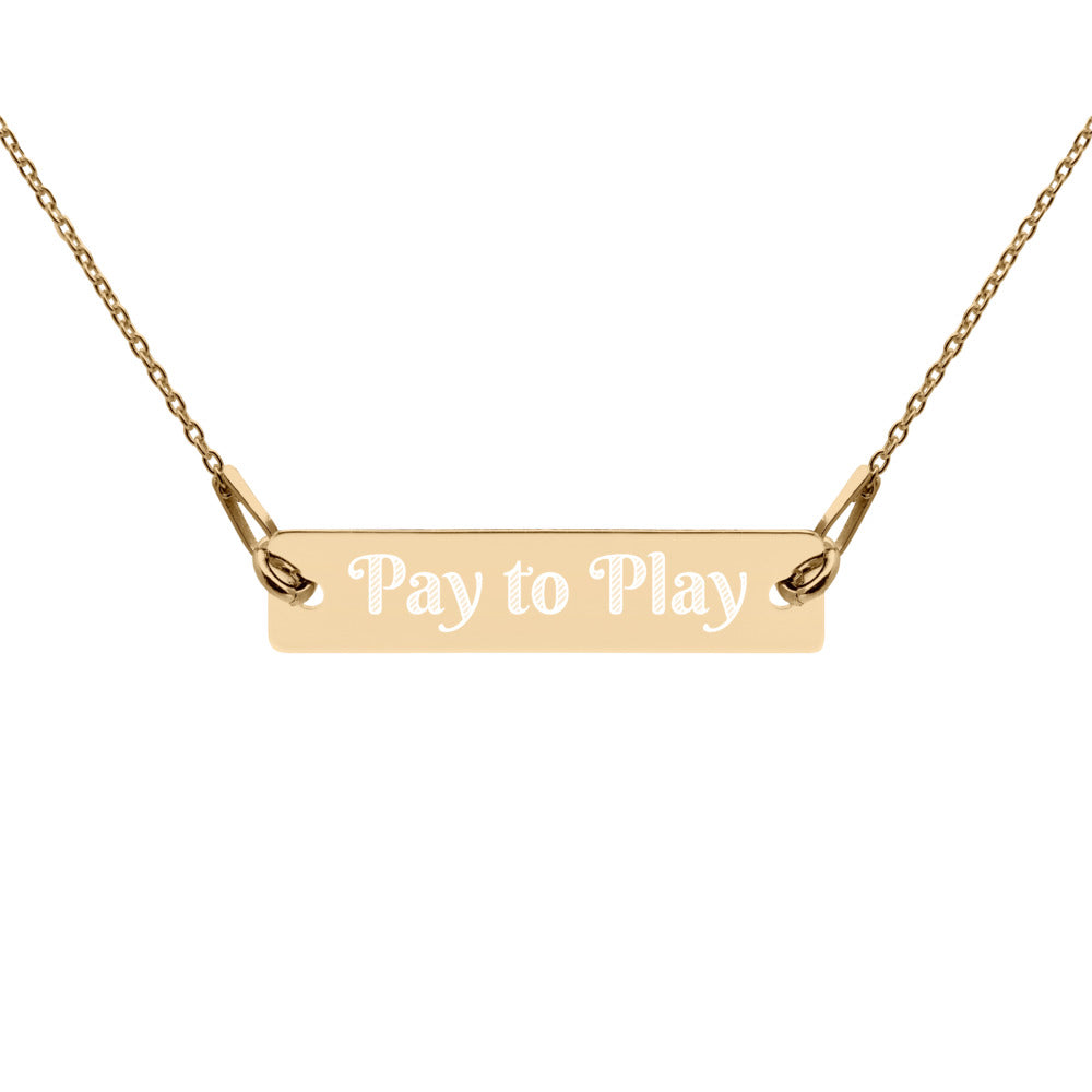 Pay to Play Customizable Chain Necklace