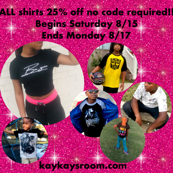 Let's Get Real! ALL shirts 25% off