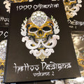 belzel books, 1000 Oriental Tattoo Designs: Vol. 2, human skull, kapala skull, ornate, geometrical patterns