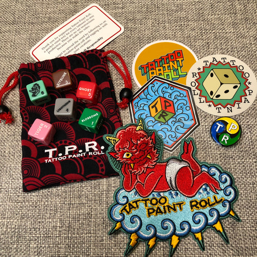 Tattoo Paint Roll Dice - Japanese 6 Dice Set Combo