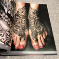 Black Tattoo Art 2 Blackwork foot tattoo