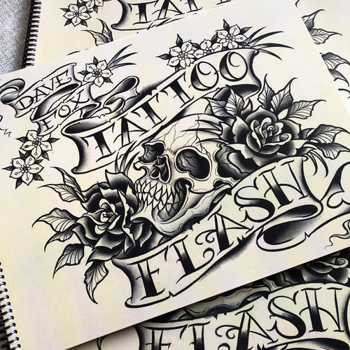 Dave Fox Tattoo Flash