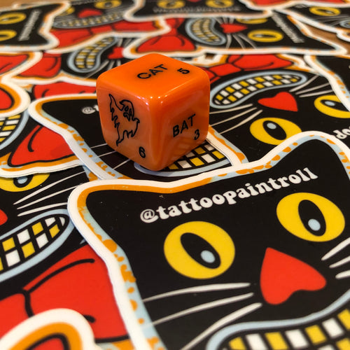 Tattoo Paint Roll Dice - Jumbo Halloween Dice *SPECIAL EDITION*