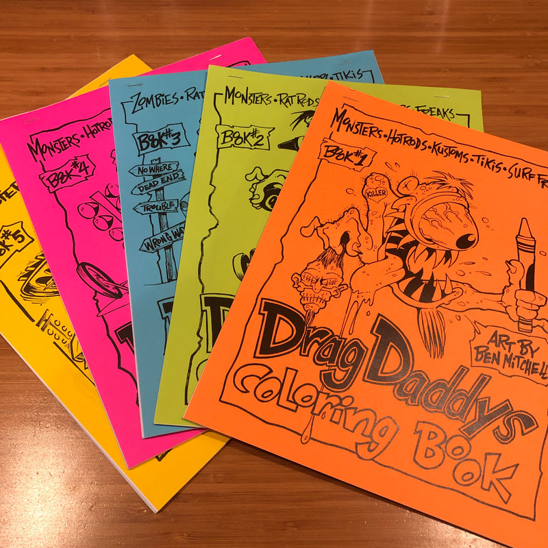 Drag Daddy's Coloring Book Set