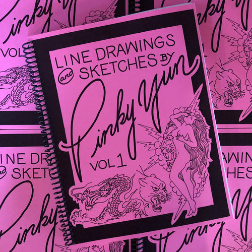 Line Drawings and Sketches by Pinky Yun Vol 1