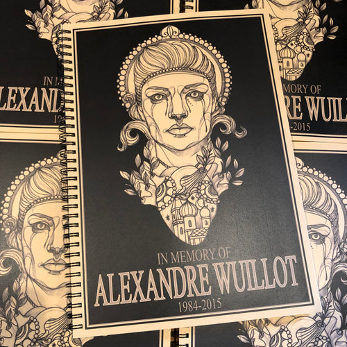 belzel books, Alex Wuillot - In Memory of Alexandre Wuillot, neo-trad, neo-traditional, moscow, heart, halo, portrait, linework, sketch