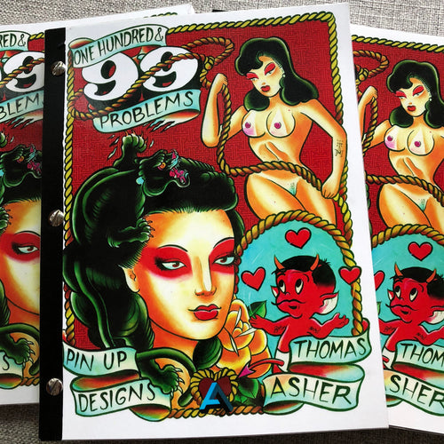 one hundred and ninety nine problems, thomas asher, belzel books, hot stuff, pin ups, model, traditional, geisha, panther