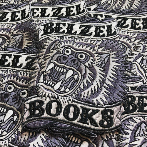 Belzel Books Embroidered Patches