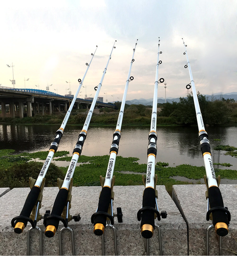 Rod-n-Reel Carbon Fiber Telescopic Fishing Rod