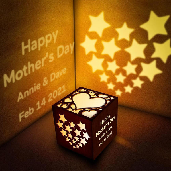 Mother's Day Gifts Personalized Text Lantern Box Custom Projection Light Best Girlfriend Gift
