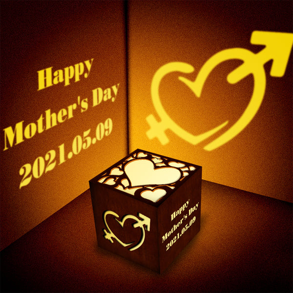 Mother's Day Gift Personalized Engraved Lantern Box Custom Projection Light