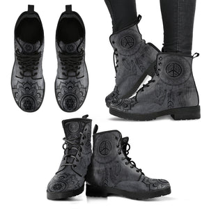 Gray Peace Boots