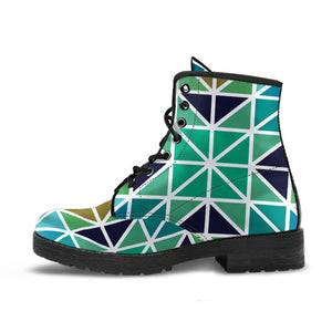 Aqua Mosaic Leather Boots