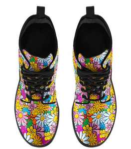 Colorful Daisies Boots
