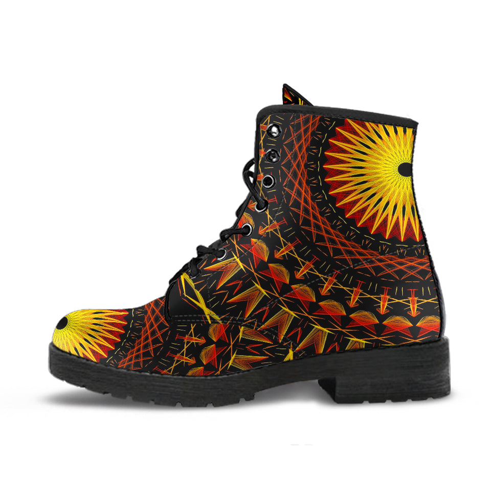 Sun Mandala Leather Boots