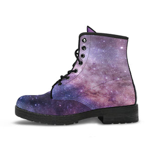 Purple Galaxy Leather Boots