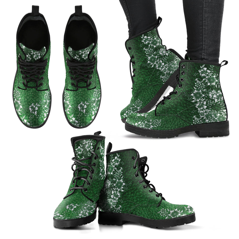 Emerald Floral Boots