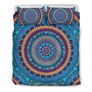 Blue Ornamental Mandala Bedding Set