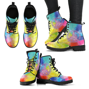 Colorful Peace Boots
