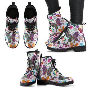 Floral Butterfly Boots