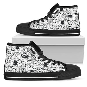 Cat Pattern 2 High Tops