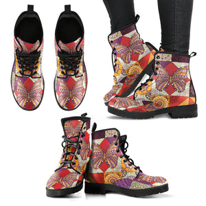 Mosaic Butterfly Boots