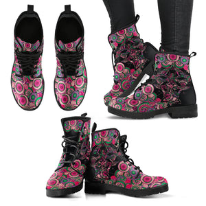 Pink Abstract Boots
