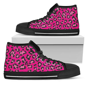 Pink Leopard High Tops