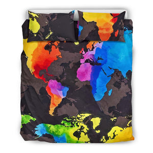 World Map Bedding Set
