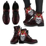 Skull Rose Crown Boots