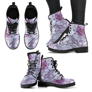 Floral Dragonfly Lotus Boots