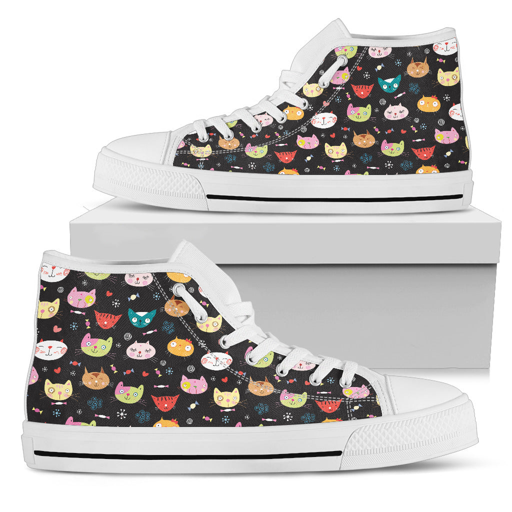Cat Pattern High Tops