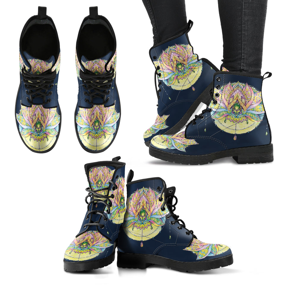 Night Lotus Mandala Boots
