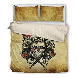 Native American Wolf Bedding Set