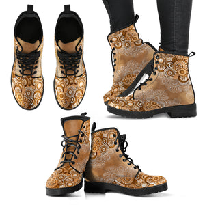 Coffee Paisley Boots