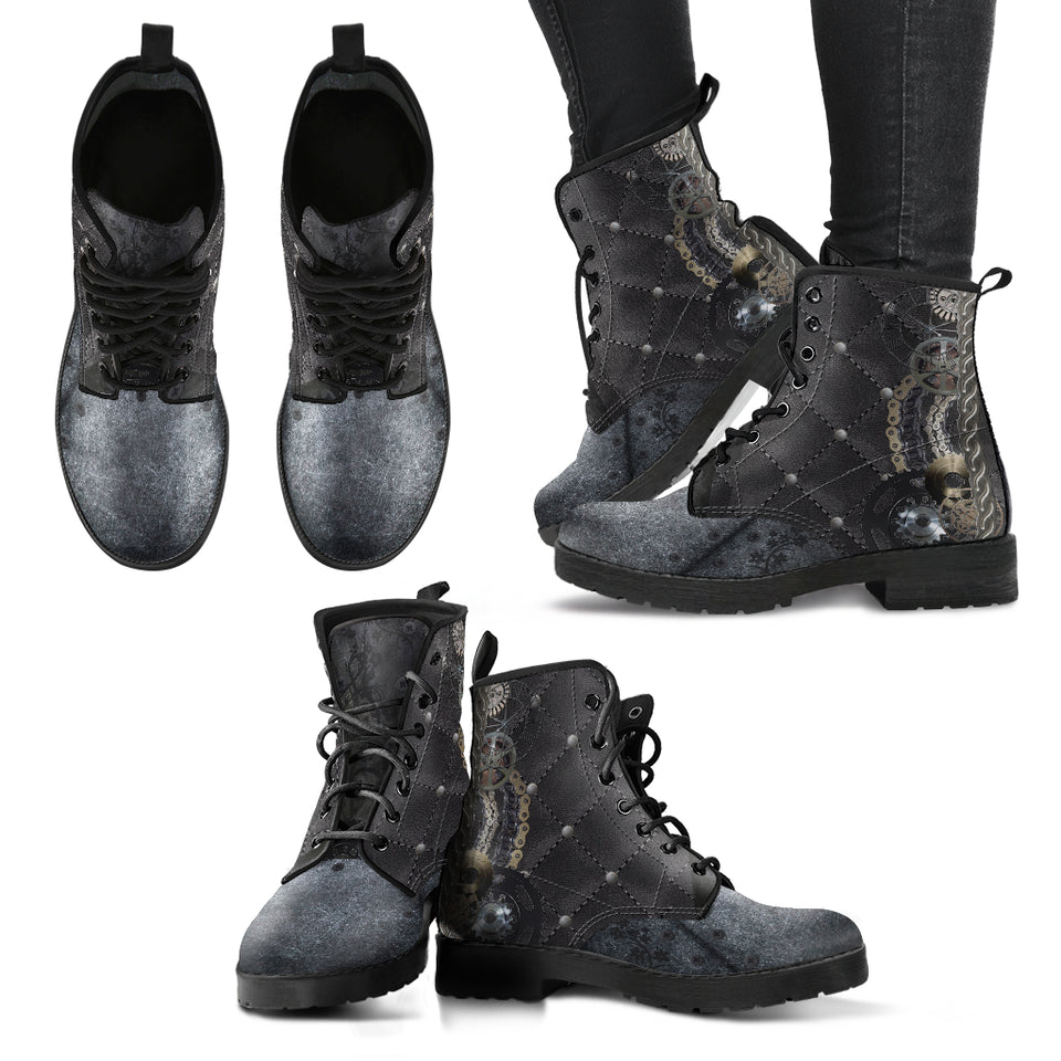 Black Steampunk Boots
