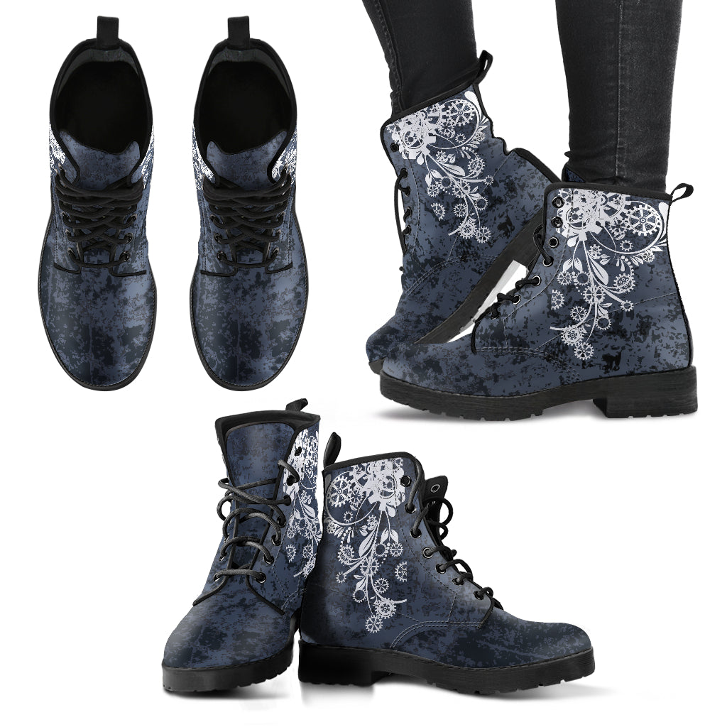 Gray Steampunk Boots