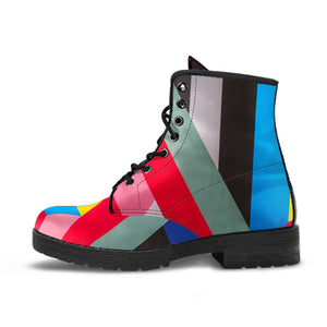 Colorful Cubism Boots