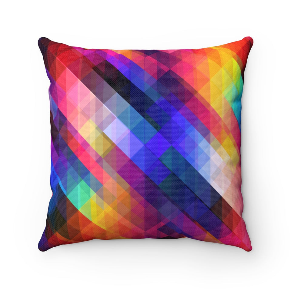 Colorful Mosaic Pillow
