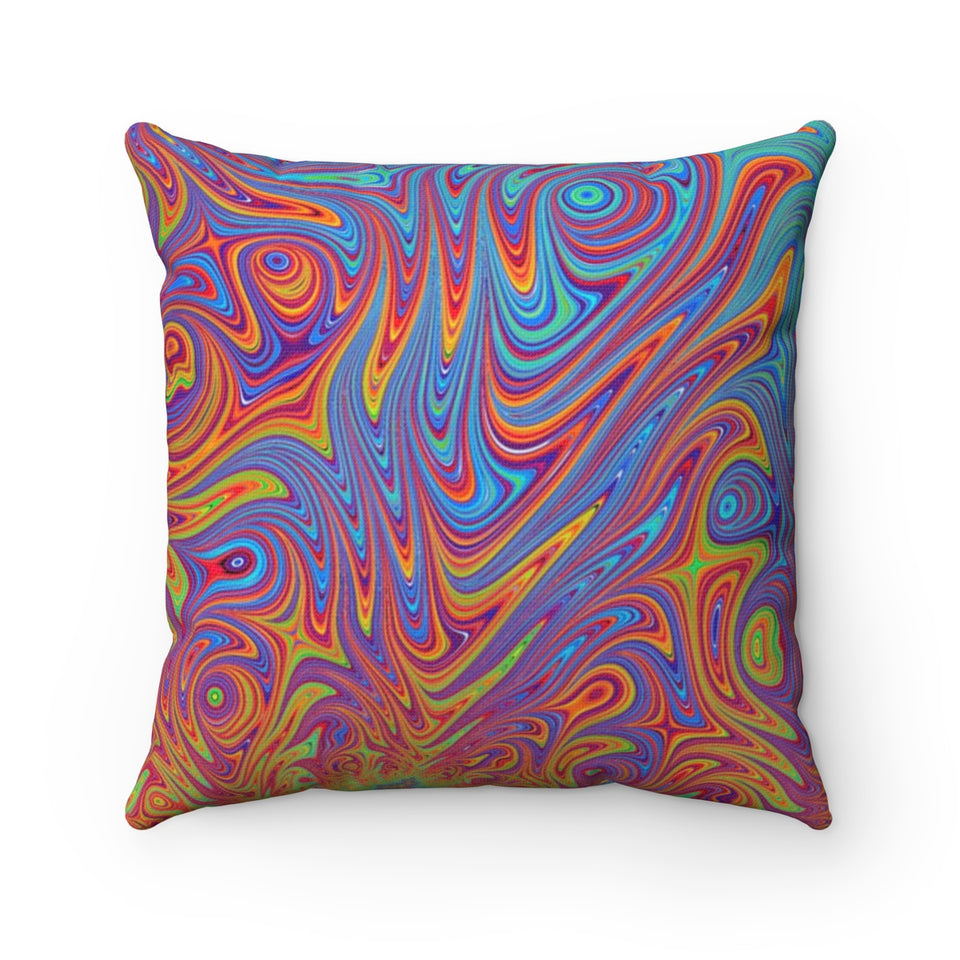 Colorful Fractal Pillow
