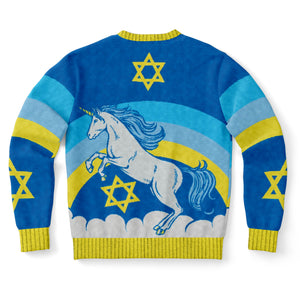 Jewnicorn Jewish Christmas Sweater