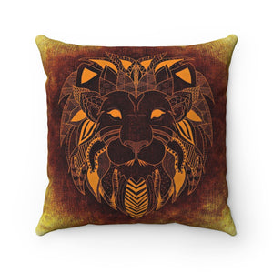 African Tribal Lion Pillow