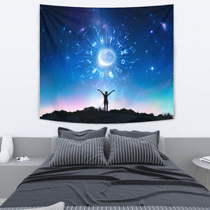 Zodiac Astrology Tapestry