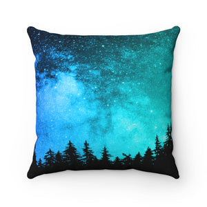 Turquoise Woods Pillow