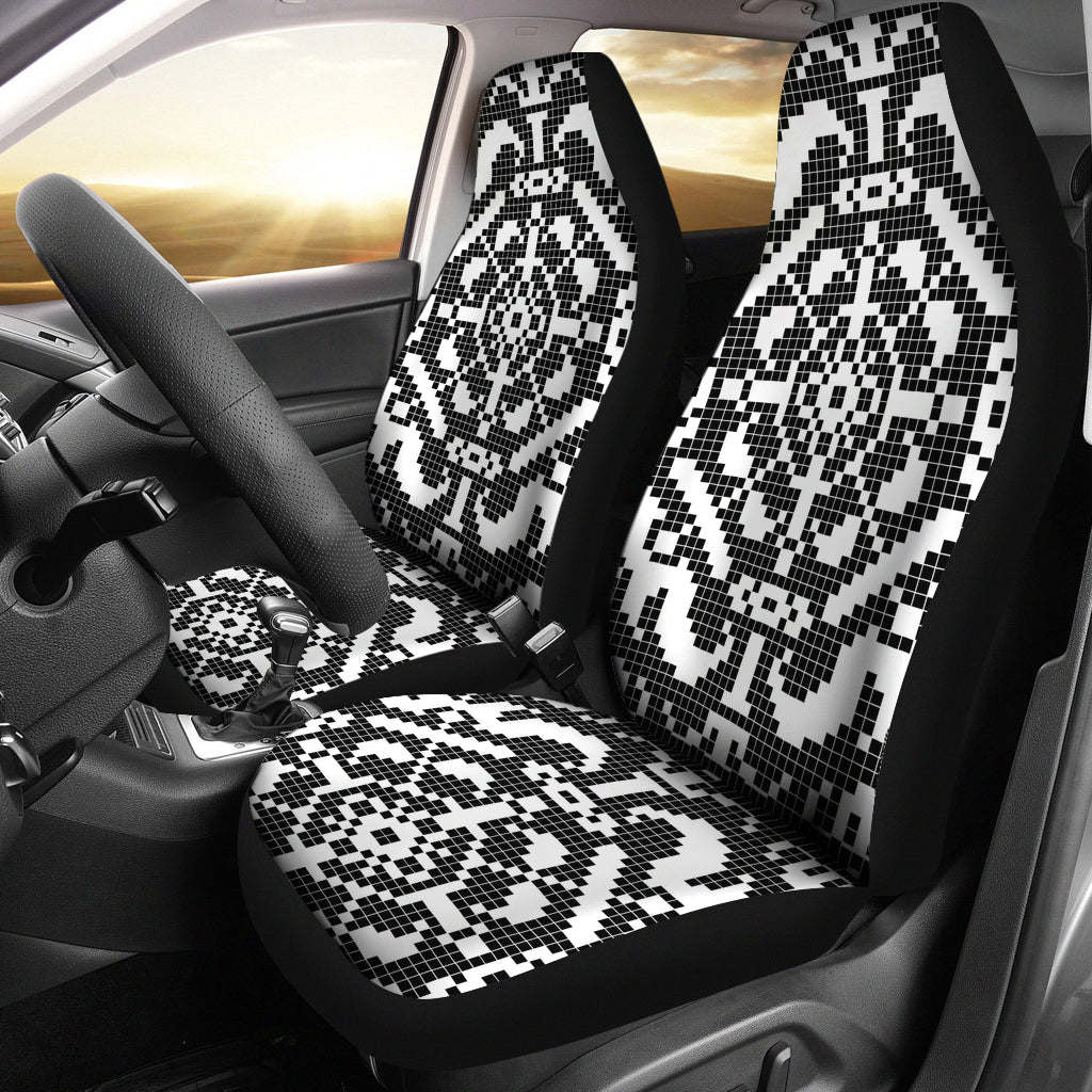 Pixelated Car Seat Covers