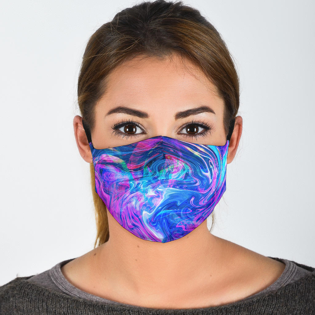 Cotton Candy Tie Dye Face Mask 1